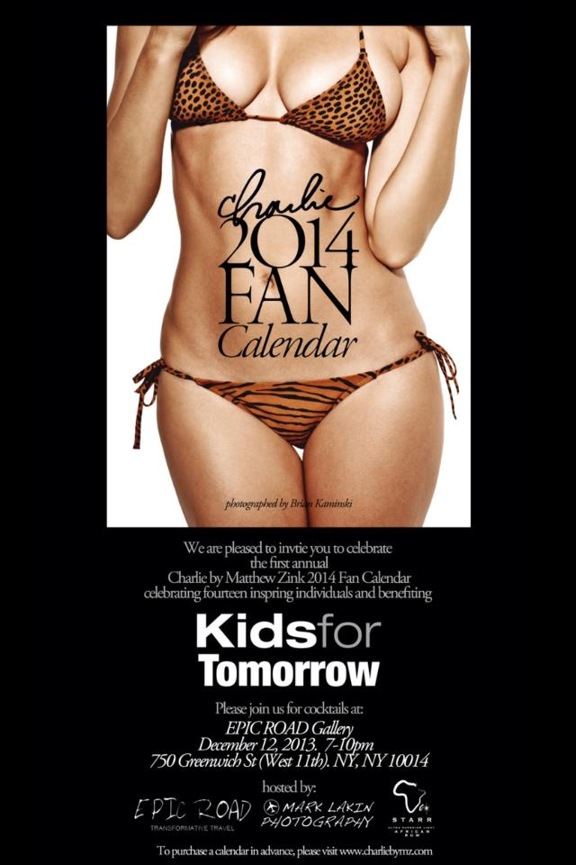 Kids for Tomorrow- Charlie Fan Calendar Holiday Event